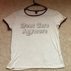 'Don't Care Anymore' Ringer Tee